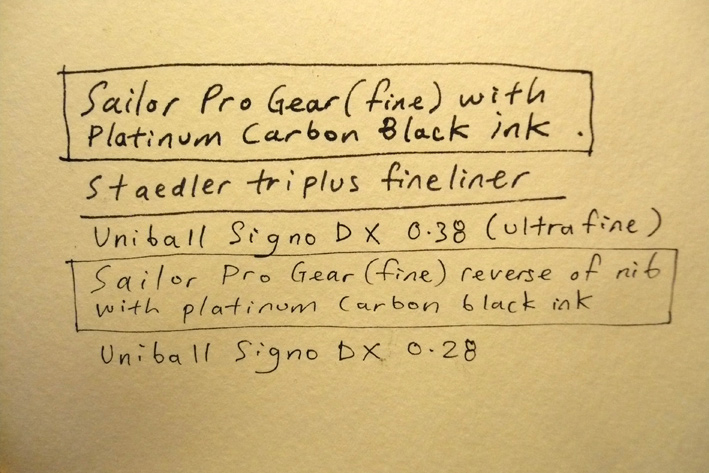Sailor 1911 Pro Gear fountain pen with fine nib