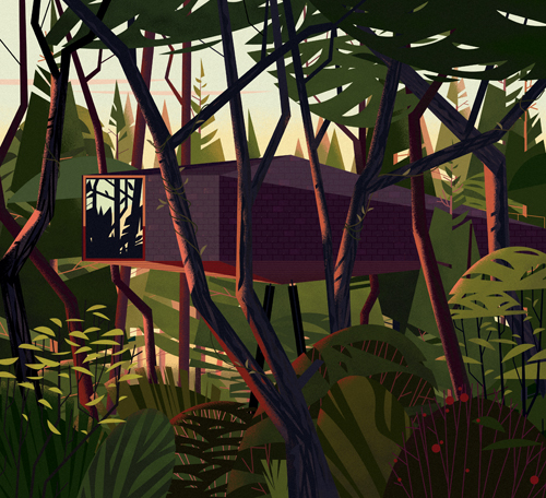 Cabins by Philip Jodidi, illustrations by Marie-Laure Cruschi - 13