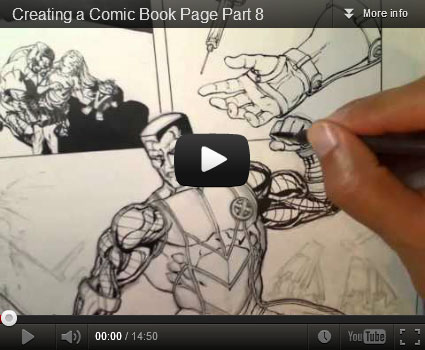 Creating a Comic Book Page Video Tutorial by David Yardin