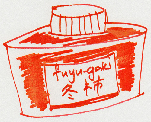 Pilot Iroshizuku Fuyu-Gaki, Winter Persimmon, Orange Red Ink - 01