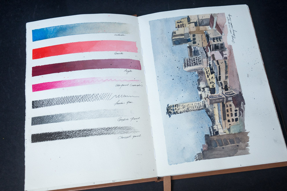 The Perfect Sketchbook B5 (10x7 inches) with Fabriano Artistico paper - 04